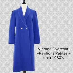 Vintage 1980s Pavilions ~ Blue Wool Coat ~ Size M